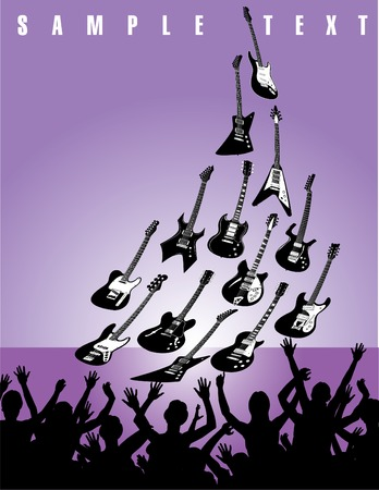 accords: Guitars in front of a live audience Illustration