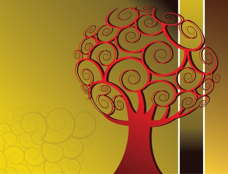 Abstract tree vector background