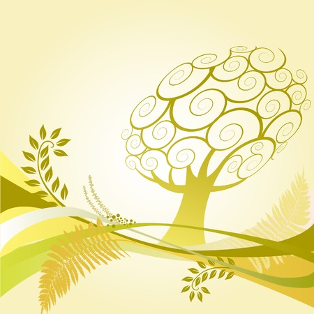 floral tree Background. Has background space for text. Stock Vector - 3189549