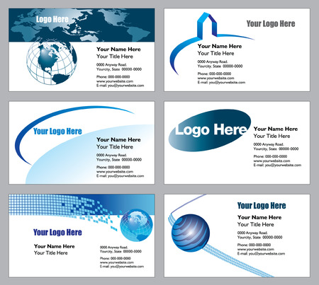 6 business card templates to choose from Banco de Imagens - 3189506