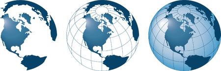 eurasia: 3 globes