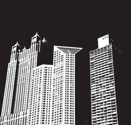 Bâtiments de la ville Banque d'images - 3374802