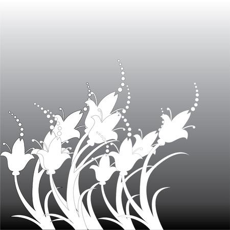 배경에 섬세 한 꽃의 그림입니다.
