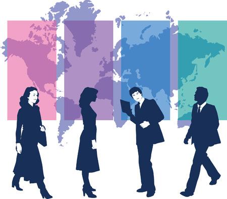 dsl: uomini d'affari con mappa  Vettoriali