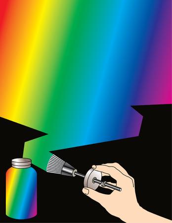 Rainbow brushed background