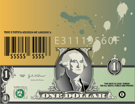 Dollar bill elements re-arranged into an abstract background Stock Vector - 3374780