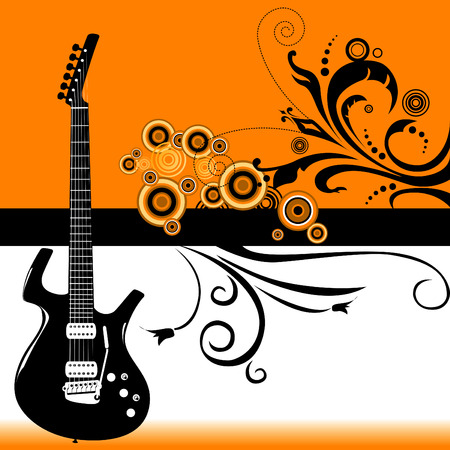 Guitar grunge banner in vector format Ilustracja