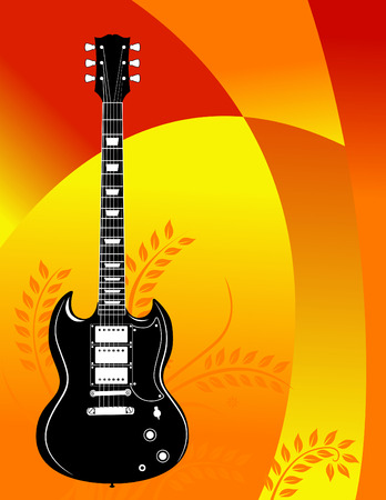 Guitar grunge in vector format Vector