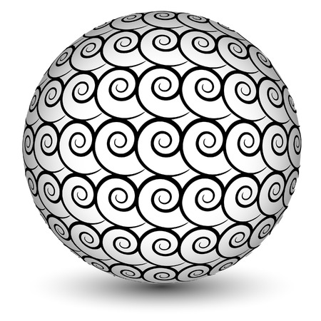 Abstract vector sphere made of swirls Vector