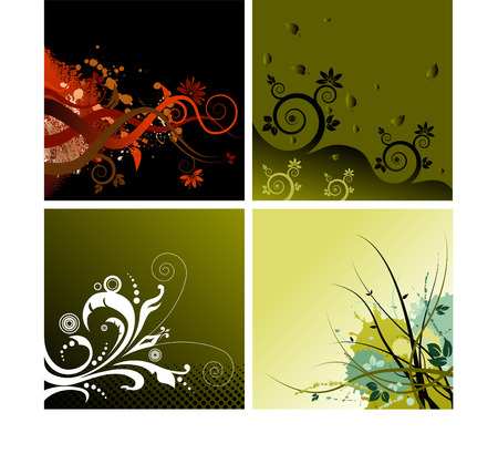 baroque border: Four vector backgrounds to choose from Illustration
