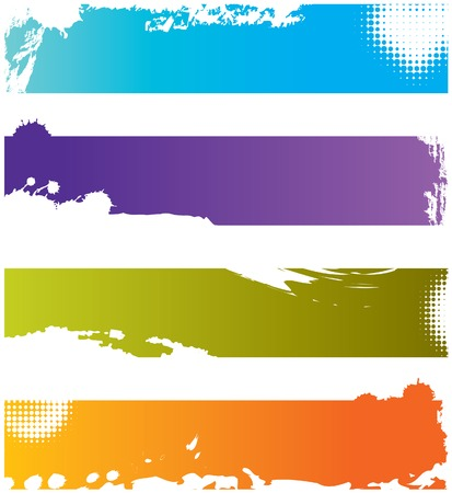 Choice of Four colorful grunge banners with space for text Ilustrace
