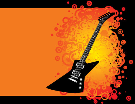 Guitar grunge background with space for text Stock Vector - 3540359