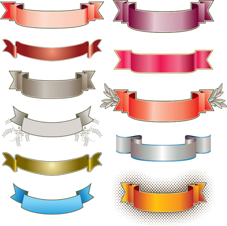 Eleven colorful vector banners Stock Vector - 3551219