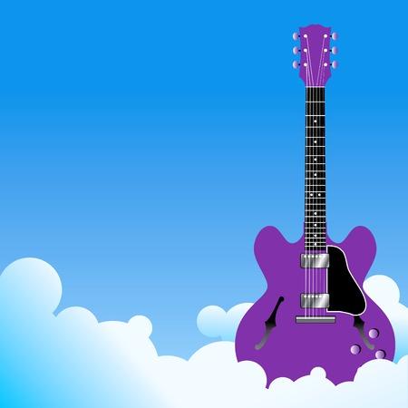 guitar sky Background Иллюстрация