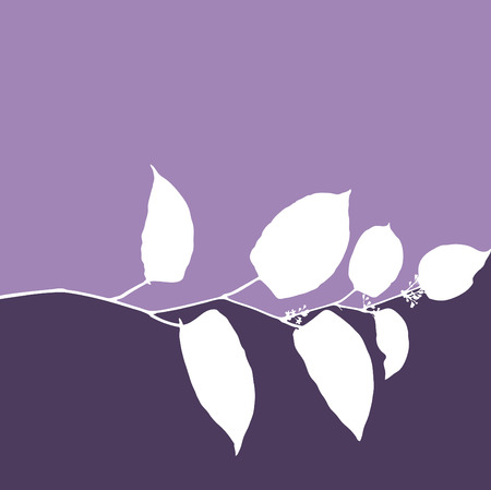 leaf logo: Floral vector background