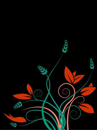 A slightly grunge fall rust red and orange background Illusztráció