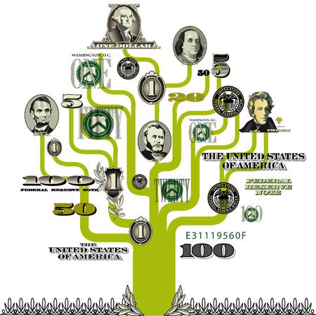 Vector money tree Ilustrace