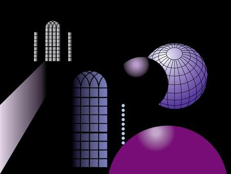 Planets and Windows Ilustração
