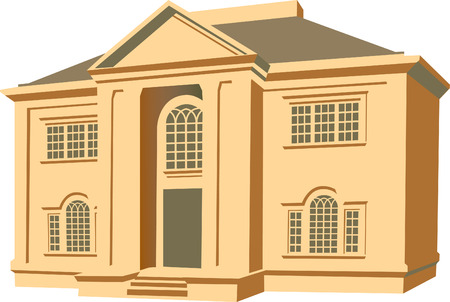 An illustration of a two story house 일러스트