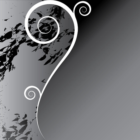 graphical: Elegant floral design with curves and space for text