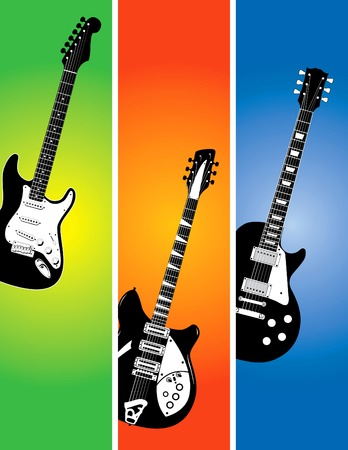 Three guitar banners Stock Vector - 4063118