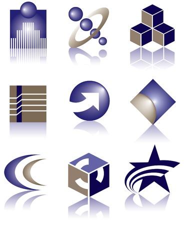 nine vector logos to choose from Stok Fotoğraf - 4063117