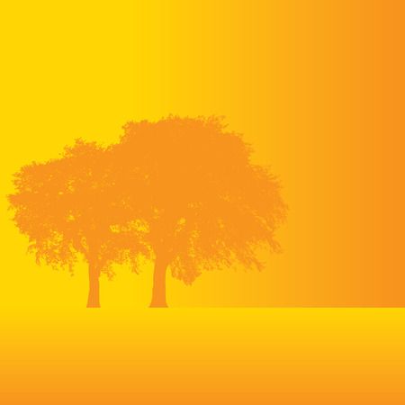 Fall tree background with space for text Ilustrace