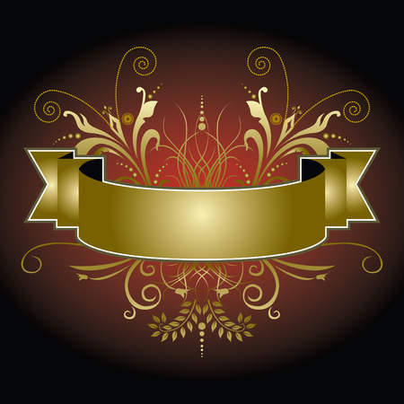 An elegant Christmas banner in reds and golds Vector