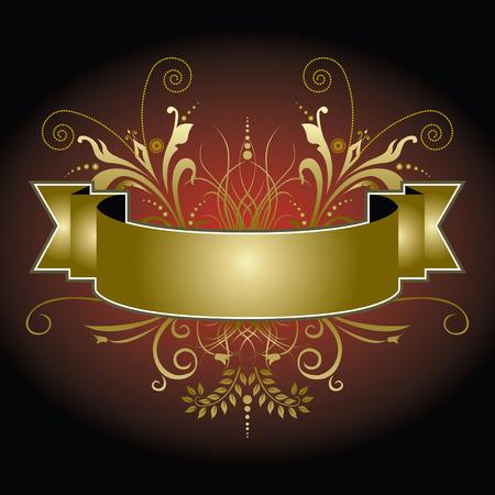 Een elegant Kerst banner in rood en goud