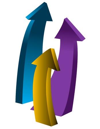 upward arrows Illusztráció