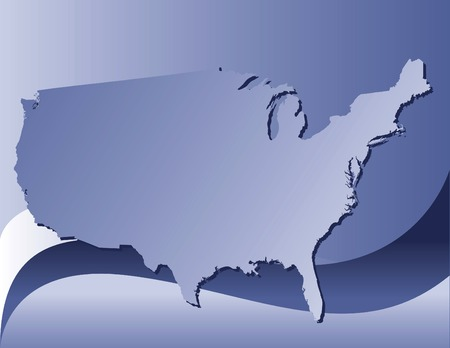 A styilized map of the usa Vector