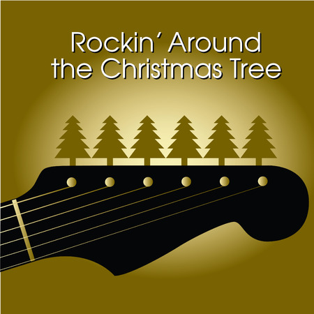 Rockin' around the Christmas tree Vectores