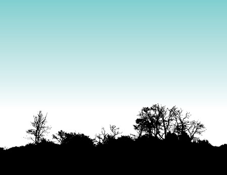 Vector landscape background with space for text with Vector