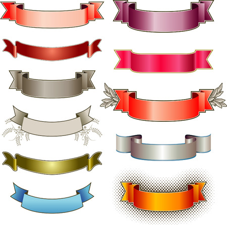Eleven colorful vector banners Stock Vector - 4075041