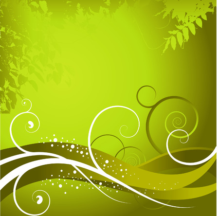 An abstract green background Vector