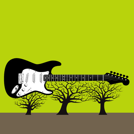 Guitar tree background