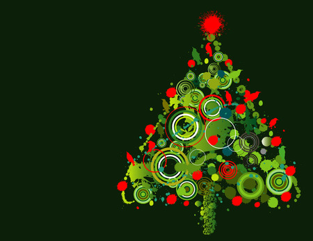 lively: A lively and colorful grunge Christmas tree