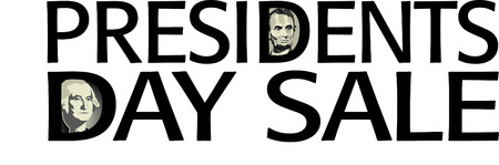 Presidents Day Sale artwork in vector format