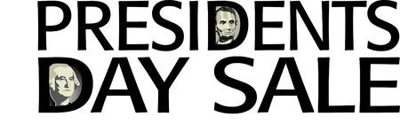 Presidents Day Sale artwork in vector format