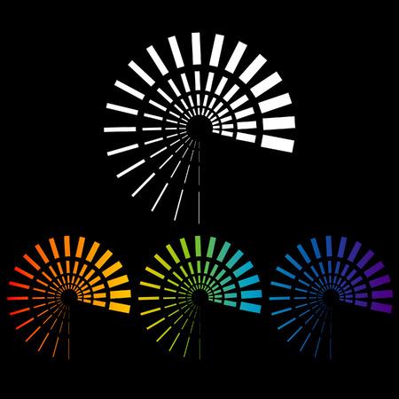 Spiral vector abstract designs