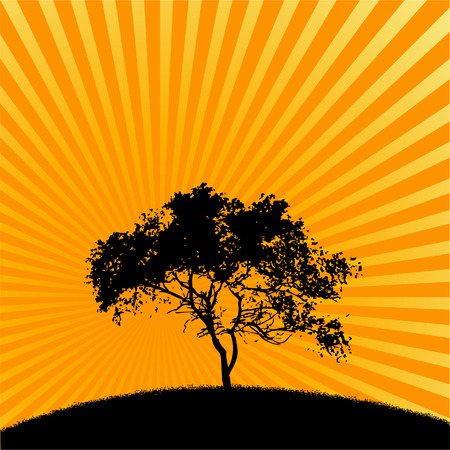 A tree vector background