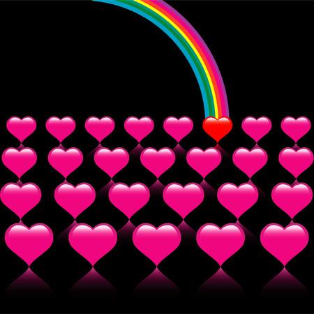 A vector valentine background