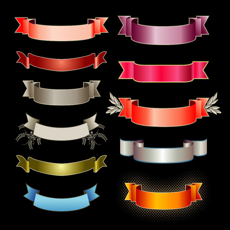 Eleven colorful vector banners Stock Vector - 4092197