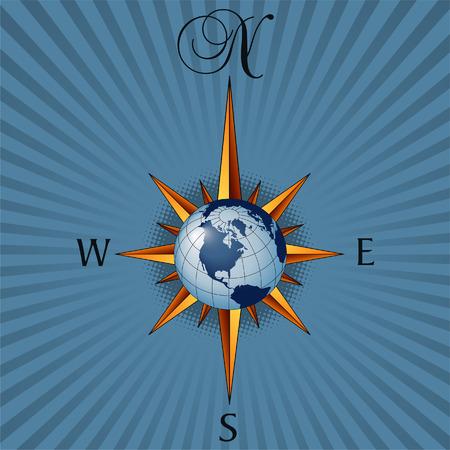 Global compass Banco de Imagens - 4092192