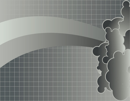Grid with clouds background Vector
