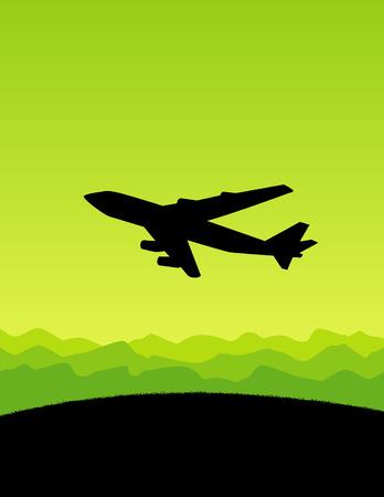 taking off: Avi�n despegando Vectores