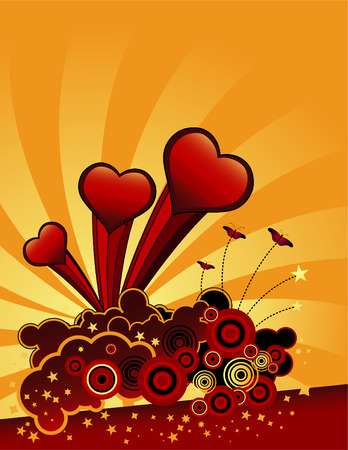 A valentine's day vector background with space for text
