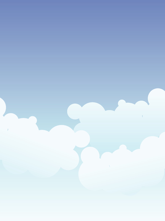 Sky and clouds background with space for text Stock Vector - 4116721