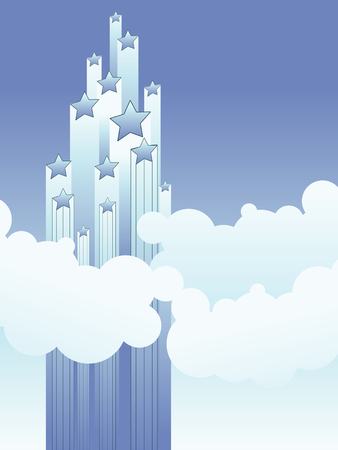 clouds stars and sky vector background Vector
