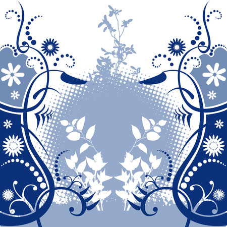 graphical: Floral background design with room for text Illustration
